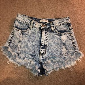Distressed High Waisted Shorts Size M